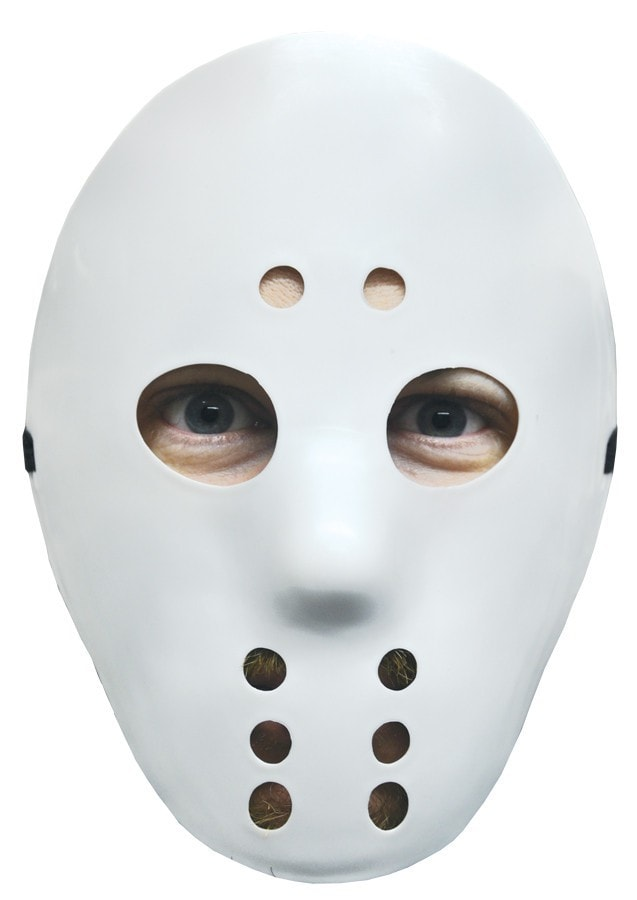 Morris Hockey Mask White - MaxWigs