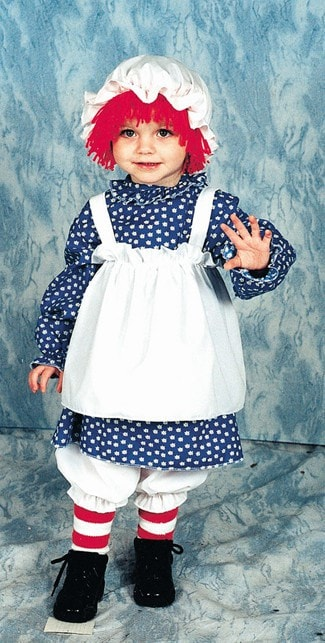 Morris Raggedy Ann Toddler 1 To 2 - MaxWigs
