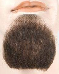 Lacey Costume 1 Point Human Hair Goatee Beard Handmade - MaxWigs