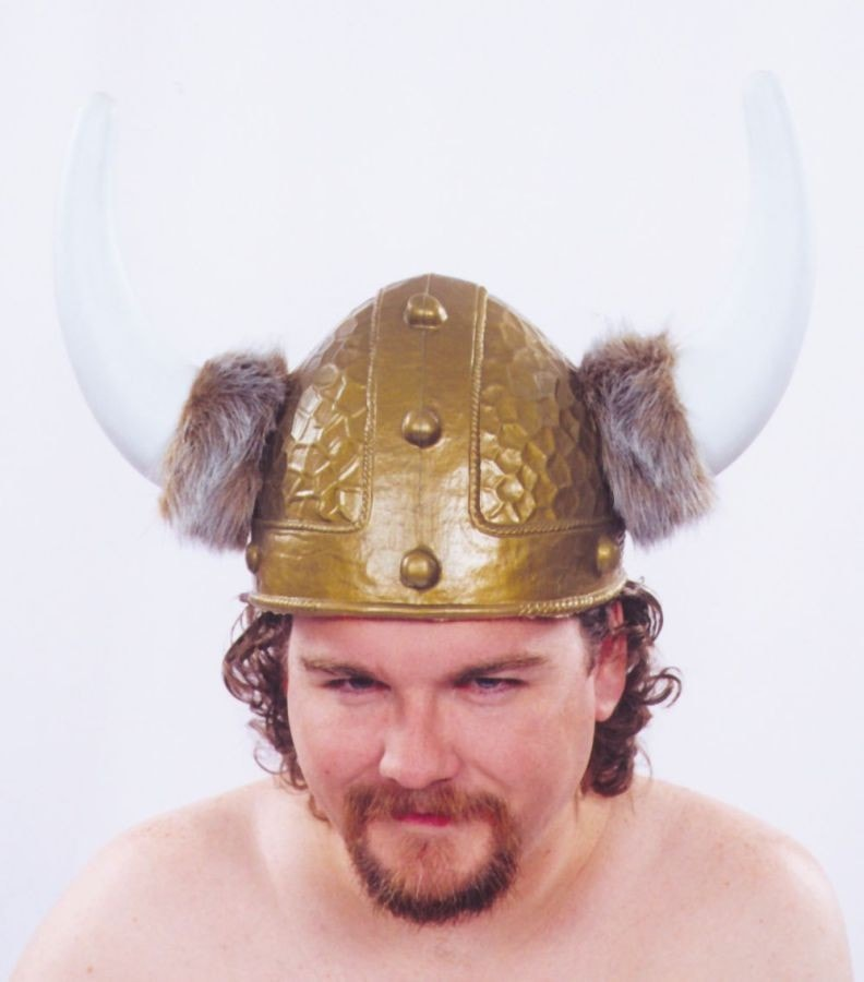 Morris Viking Helmet Gold 1 Sz - MaxWigs