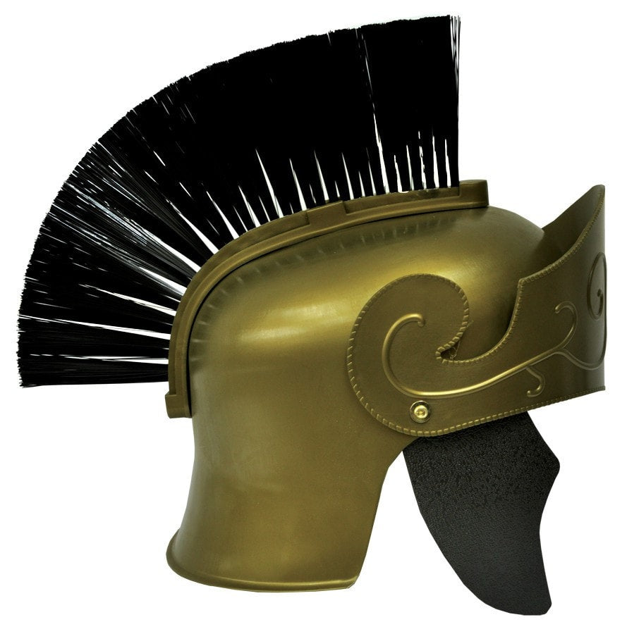 Morris Roman Helmet Gd W Black Brush - MaxWigs