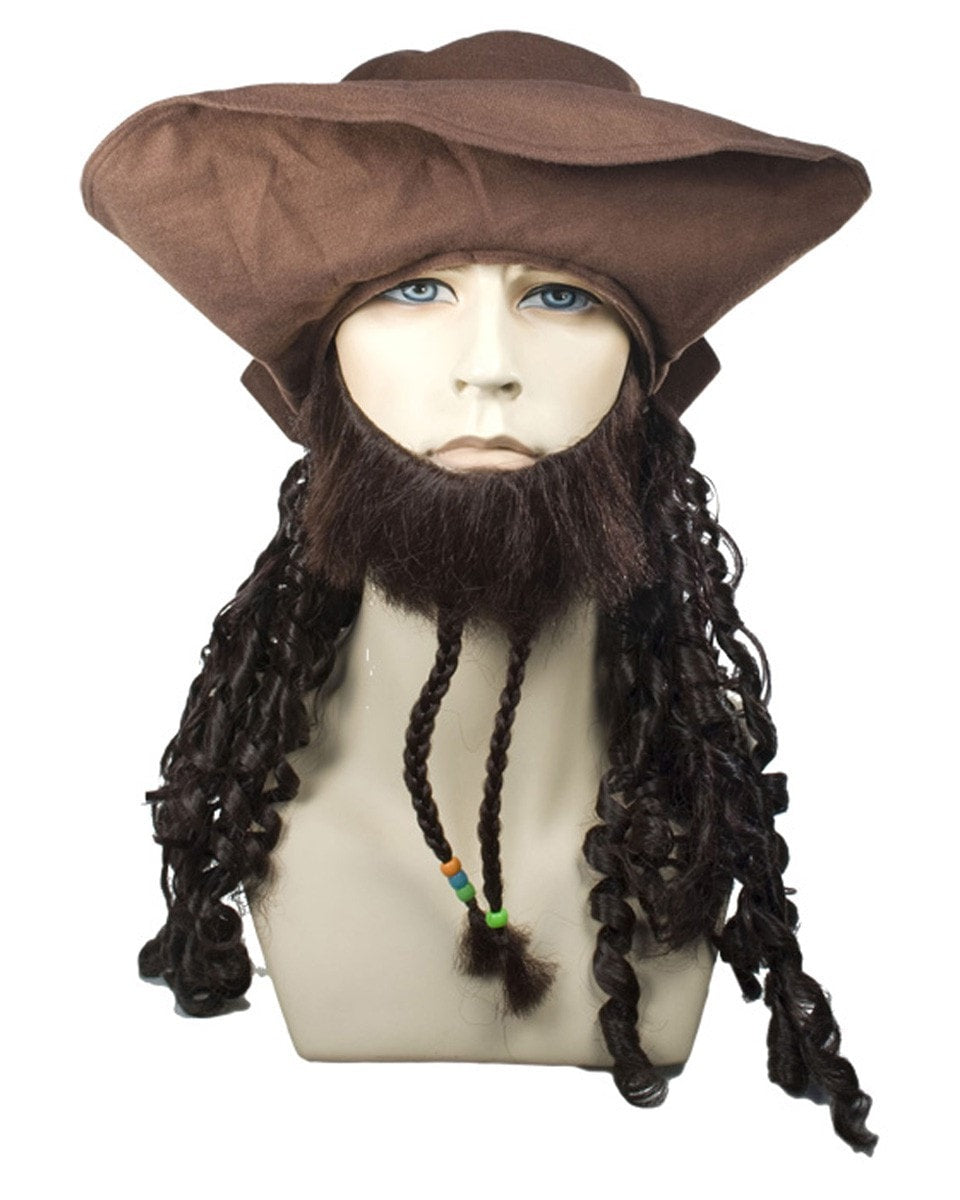 Lacey Costume Buccaneer Johnny Hat CLEARANCE - MaxWigs