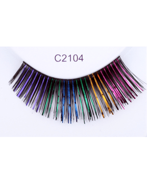 Sepia Black with Colors Eyelash C2104 - MaxWigs