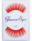Sepia Red with Gold & Black Eyelash C23 - MaxWigs
