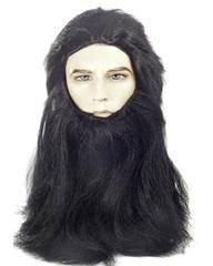 Lacey Costume Caveman Wolfman Planet of Apes Costume Wig & Beard Set - MaxWigs