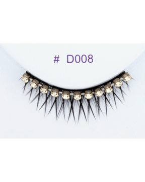 Sepia Small Black with Gems Eyelash D008 - MaxWigs