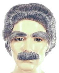 Lacey Costume Deluxe Mark Twain Wig Eyebrows Mustache Author - MaxWigs