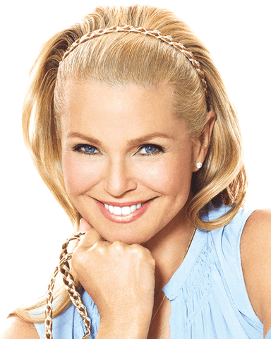 Christie Brinkley Double Braided Headband - MaxWigs