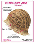 Advantage Soft Layered Shag Mono Crown by Eva Gabor Wigs