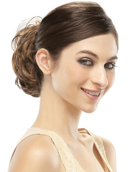 Mimic Curly Ponytail Wrap Elasticized Scrunchie Attachment by EasiHair Hairpieces