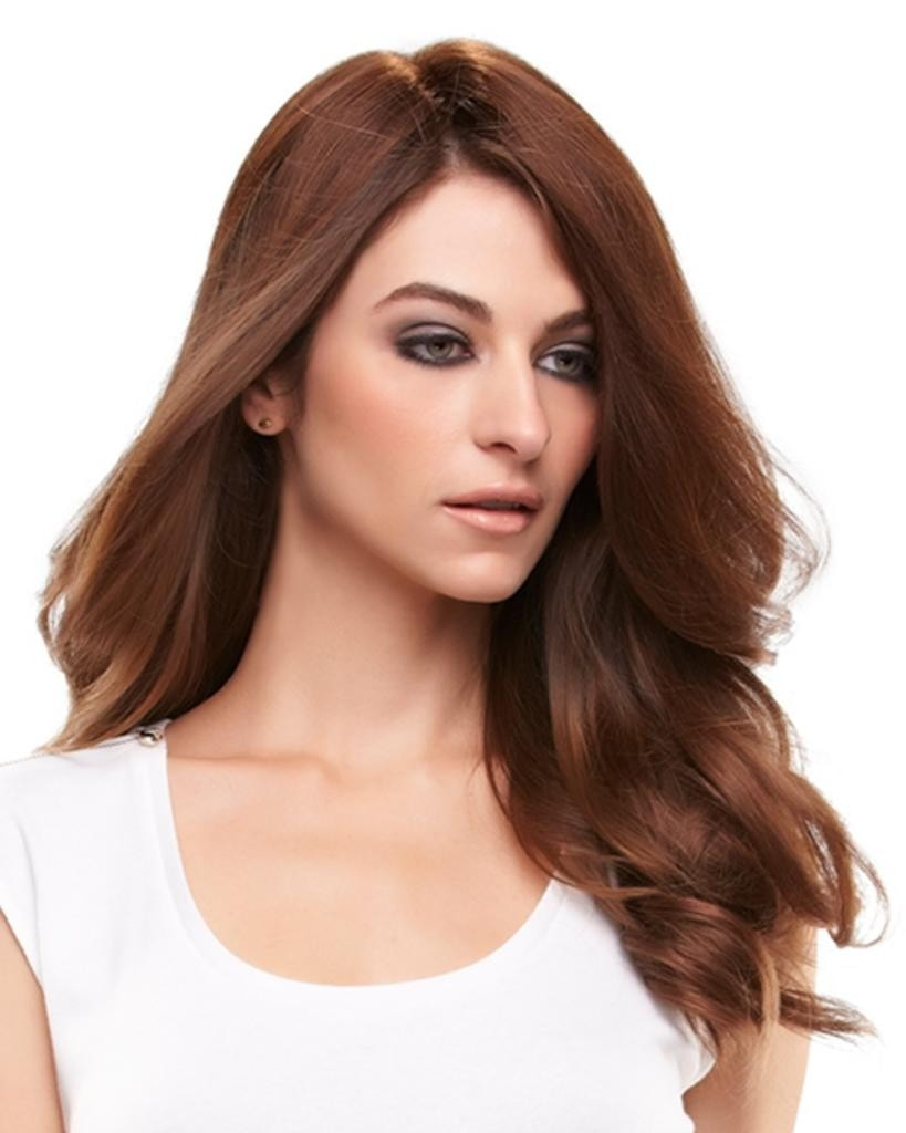 "easiPart 12"" Heat Resistant Volumizer Extension Clip In Monofilament by EasiHair Hairpieces"