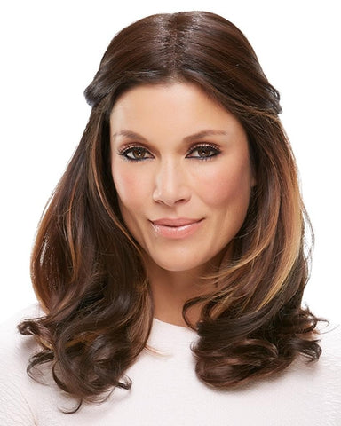 "easiPart 18"" XL Heat Resistant Volumizer Extension Clip In Monofilament by EasiHair Hairpieces"