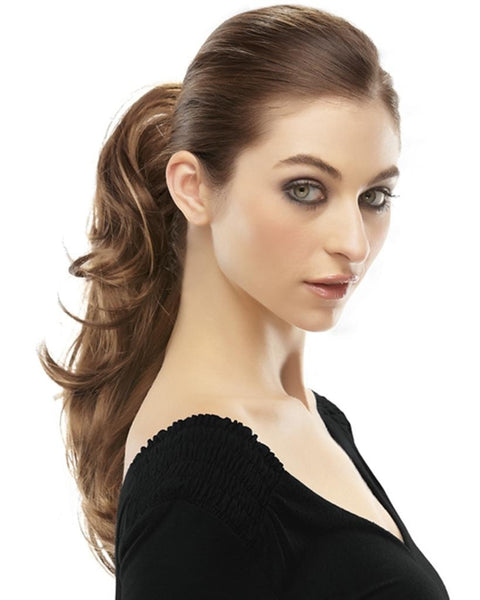 Rampage  Ponytail Long Wavy Reversible Claw Clip Attachment by EasiHair Hairpieces