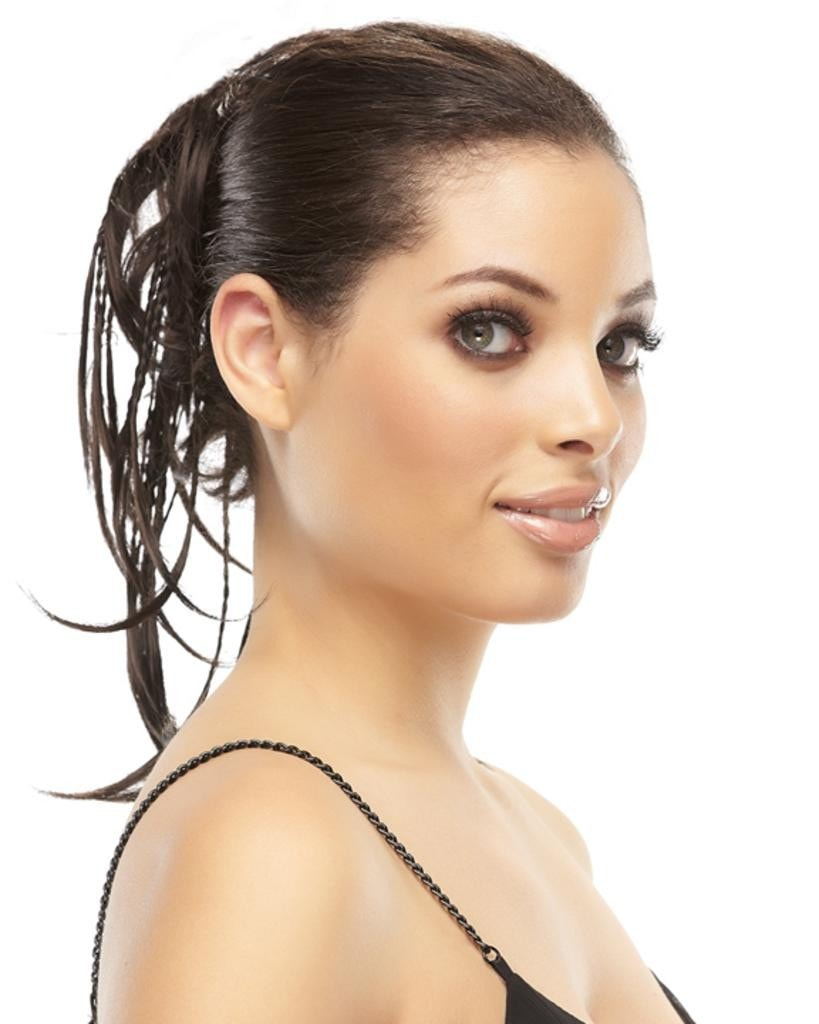 Precious  Alternating Braided Headband on Ponytail Wrap by EasiHair Hairpieces