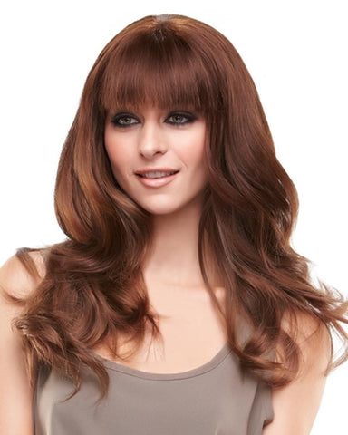 "easiFringe 12""  Human Hair Clip In Bangs Extension Monofilament by EasiHair Hairpieces"