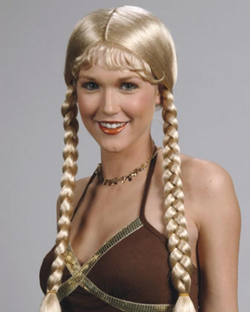 Heidi Long Braids Bangs by Enigma Costume Wigs