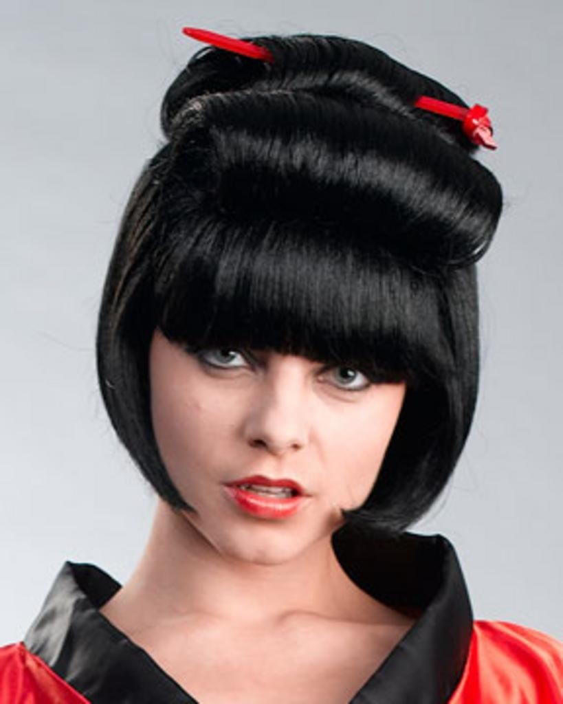 Geisha Asian Bob by Enigma Costume Wigs
