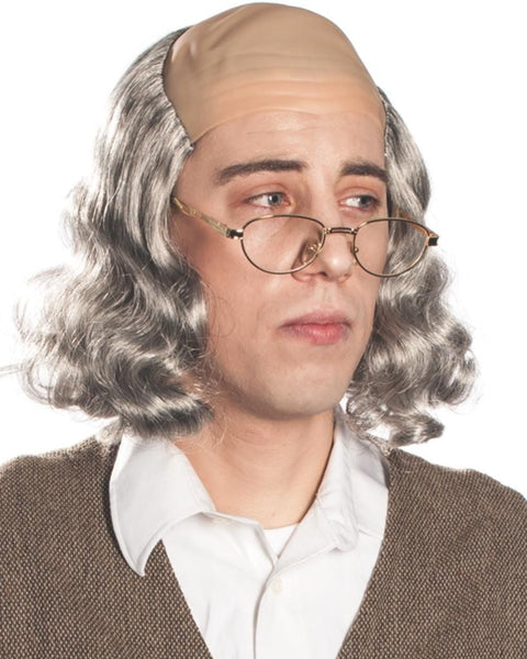 Ben Franklin Bald Cap by Enigma Costume Wigs