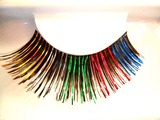 Lacey Costume Rainbow Eyelashes - MaxWigs