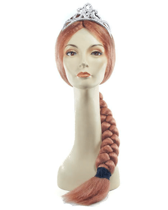 Lacey Costume Fiona Princess Skrek Braided Wig Ogre - MaxWigs