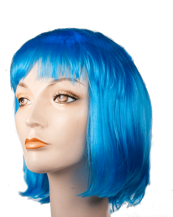Lacey Costume Gaga Blue Bob Lady - MaxWigs
