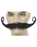 Lacey Costume Giant Villain Mustache M80 - MaxWigs