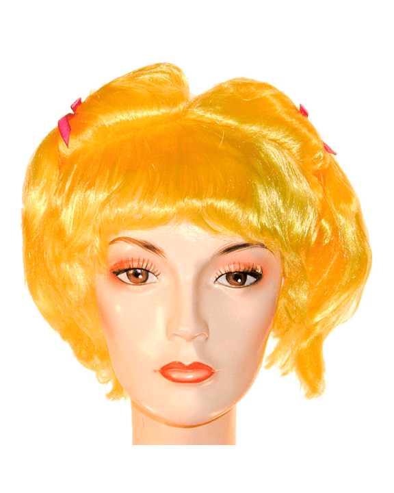 Lacey Costume Girls Yellow Wig with Braids Bargain Version - MaxWigs