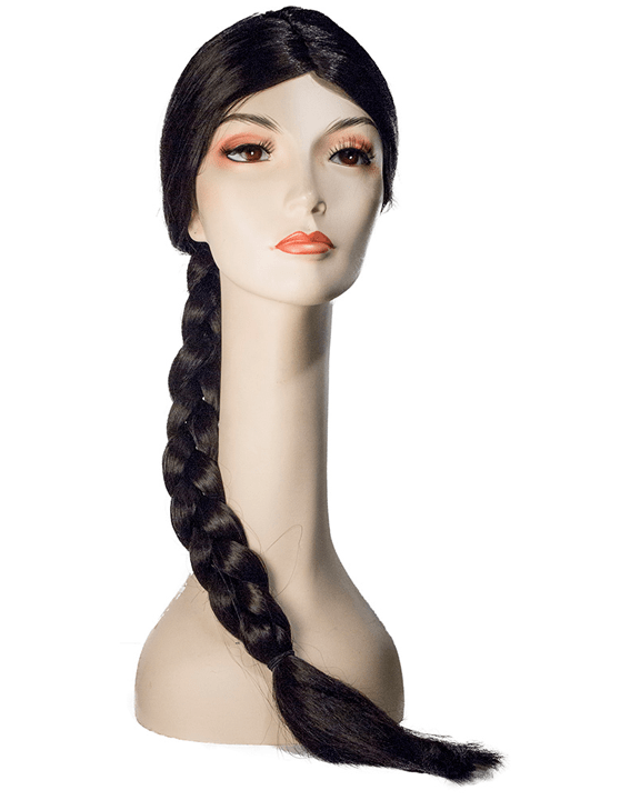 Lacey Costume Hunger Girl Adventurous Kat Brown Braid - MaxWigs