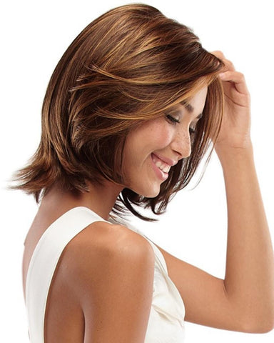 Jon Renau Alia Petite Synthetic Women SmartLace Short Mono Top Bob Wig by Jon Renau - MaxWigs