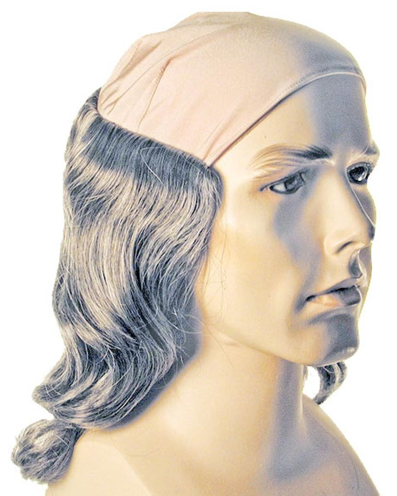 Ben Franklin Benjamin Founding Father Wig Bald Cloth by Lacey Costume Costume Wigs