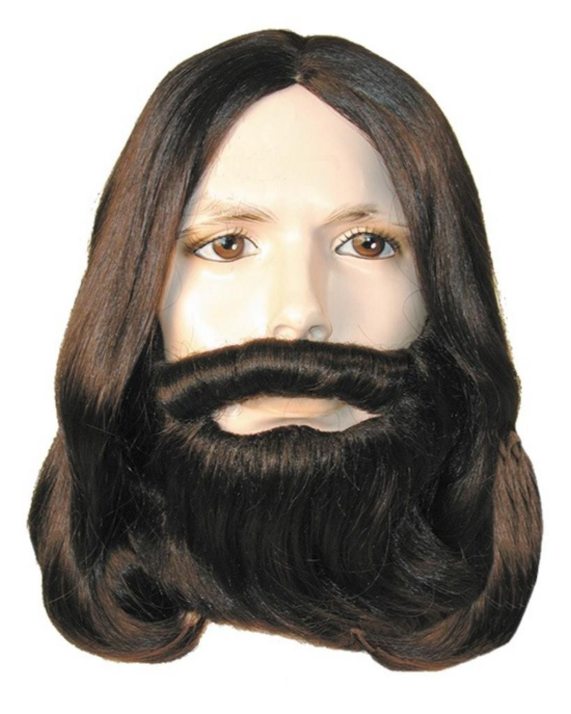 Biblical Jesus Apostle Wig & Beard Set by Lacey Costume Costume Wigs