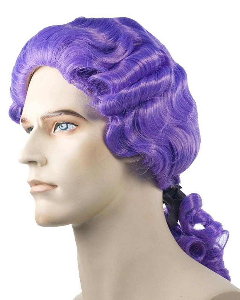 Bargain Colonial Man Washington 18th Century Revolutionary Pigtail Wig by Lacey Costume Costume Wigs