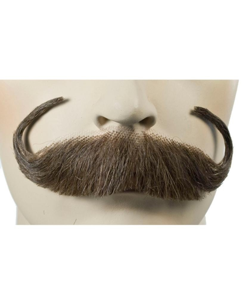 Handlebar Human Hair Handmade Mustache by Lacey Costume Costume Mustaches