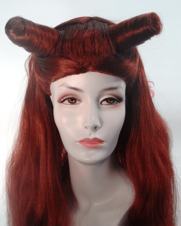 Lacey Costume Poison Ivy Burgundy Batman Villain Wig - MaxWigs