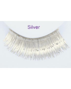 Sepia Metallic Silver Eyelash - MaxWigs