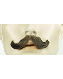 Small English M10 Synthetic/Human Blend Handmade Mustache CLEARANCE
