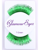 Sepia Metallic Green Eyelash - MaxWigs