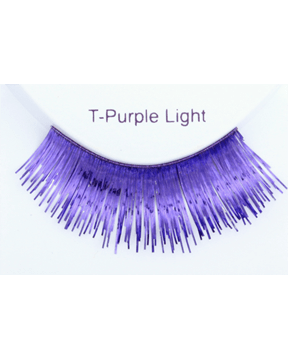 Sepia Metallic Purple Light Eyelash - MaxWigs