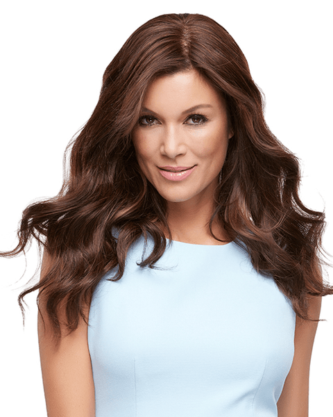 "Jon Renau Top Style 18"" Exclusive Colors Clip In Hairpiece Human Hair - MaxWigs"