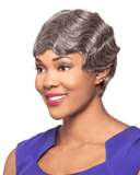 Foxy Silver Nancy - Human Hair Fingerwave - MaxWigs