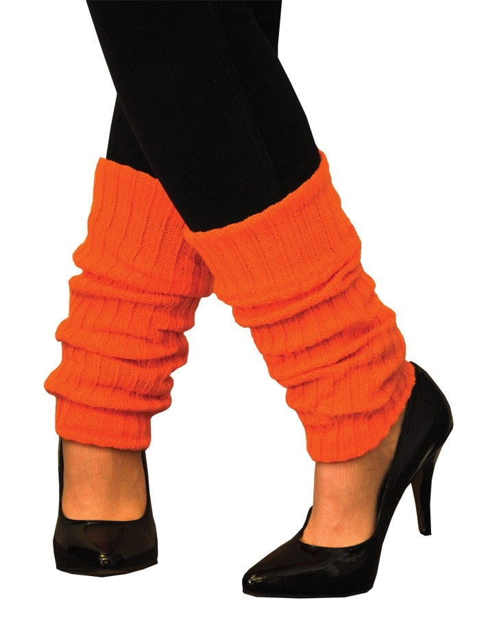 Morris Leg Warmers Adult Neon Orange - MaxWigs