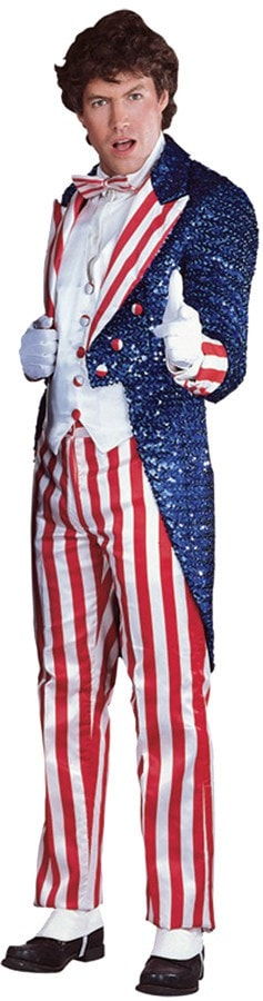 Morris Uncle Sam Sequin Large Dlx - MaxWigs