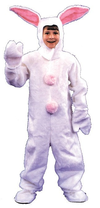 Morris Bunny Suit Child 6 8 White - MaxWigs