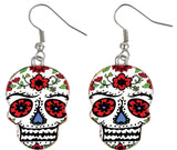 Morris Earrings Day Of Dead - MaxWigs