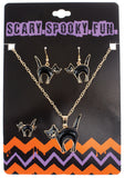 Morris Necklace Ring Earring Set Cat - MaxWigs