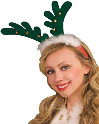 Morris Antlers With Bells Headband - MaxWigs