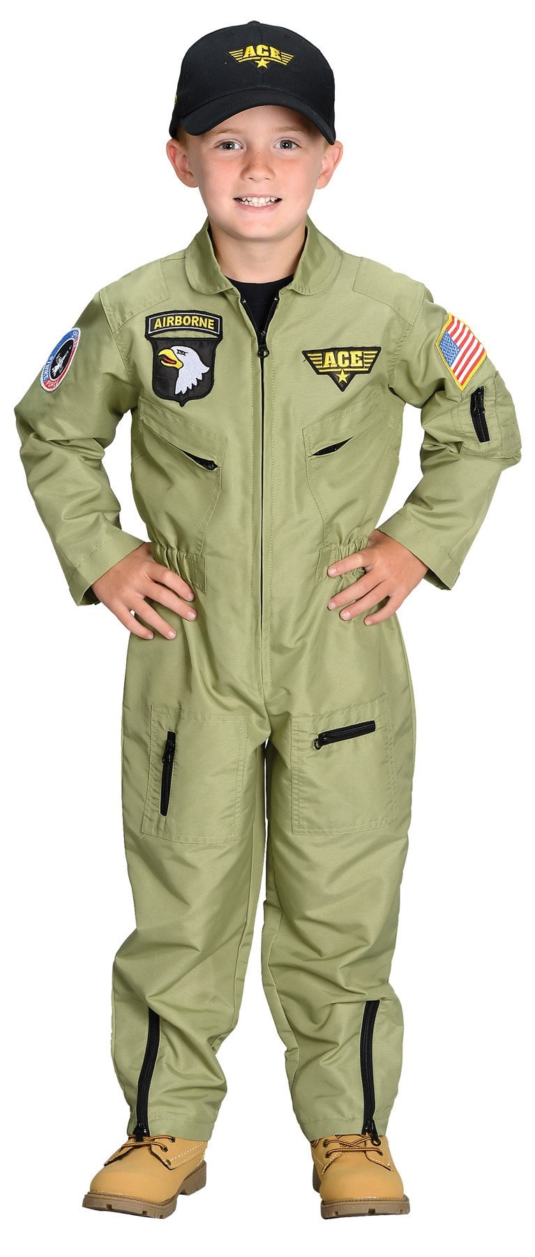 Morris Fighter Pilot Child Large 8-10 - MaxWigs