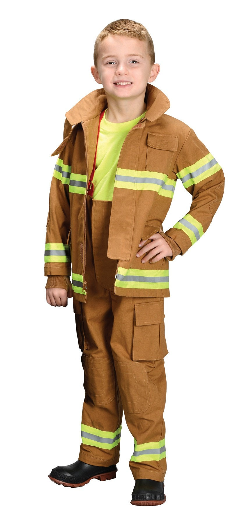 Morris Fire Fighter Child Tan Lg 8-10 - MaxWigs