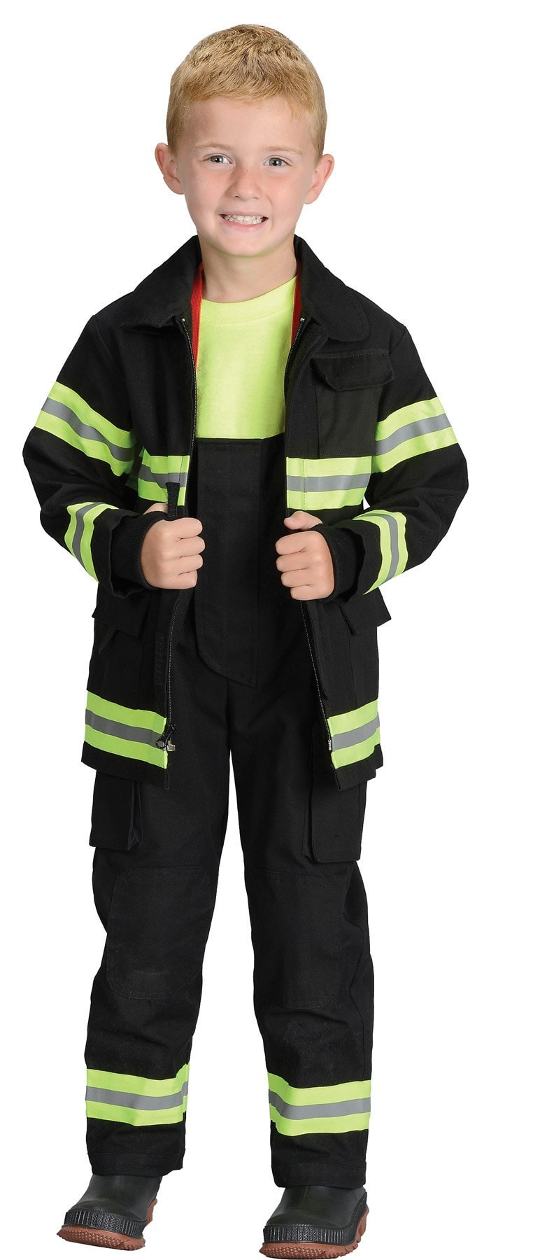 Morris Fire Fighter Chld Black Md 6-8 - MaxWigs