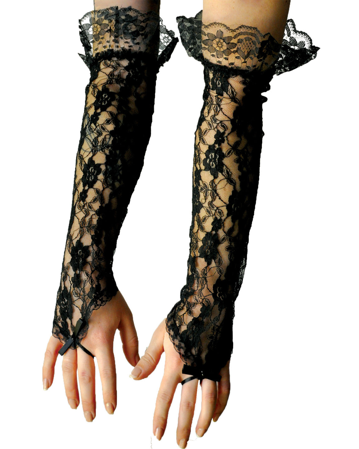 Gloves Black Lace Fingerless